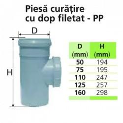 PIESA DE CURATIRE CU DOP FILETAT PP