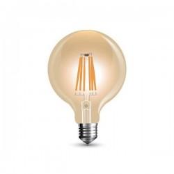 BEC LED G125 E27 REG 8WFILAMENT 2200K ALB CALD SKU 7155