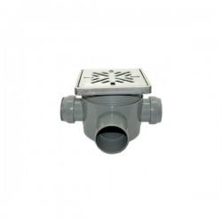 SIFON PARDOSEALA GEHLER INOX 115 X 115 MM