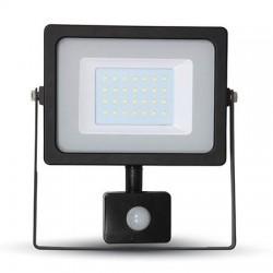 REFLECTOR LED NEGRU SMD 30W 6400K IP44 SENZOR DE MISCARE 5821