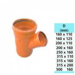 RAMIFICATIE PVC 110 X 40 X 45