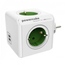 PRIZA POWERCUBE CU USB - VERDE 1202 SMG