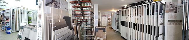 Interior magazin Vasion showroom gresie faianta bacau
